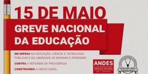 857e72525191 15 de maio: Greve Nacional da Educação